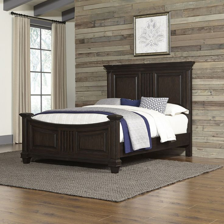 Features:  -Curved flair.  -Aged bourbon finish.  -Antiqued brass hardware.  -Prairie collection.  -Black oak finish.  -Material: Solid hardwood.  Frame Material: -Manufactured wood/Wood.  Headboard I