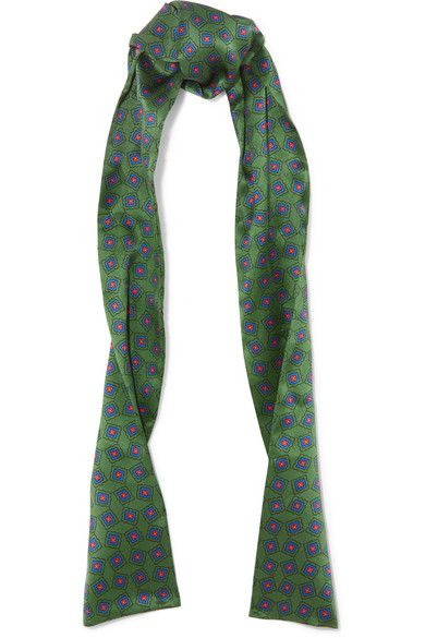 Gucci - Printed Silk Scarf - Green - one size