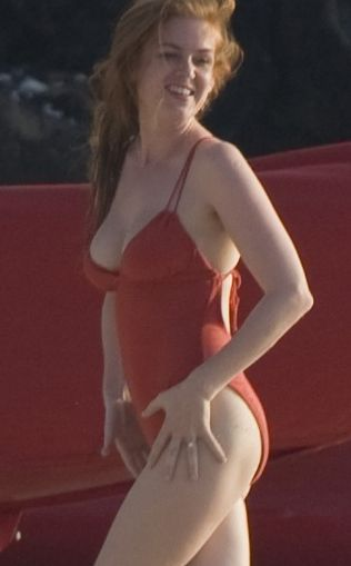 Isla Fisher Bikini | Isla Fisher Handstand in a Swimsuit