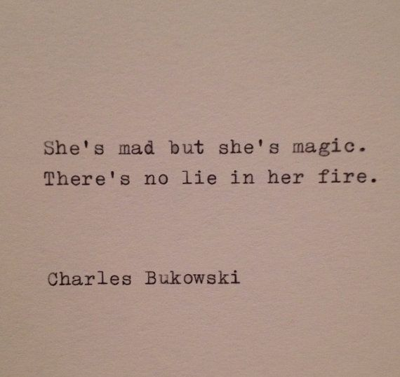 Charles Bukowski Typewriter Quote by farmnflea on Etsy, $9.00
