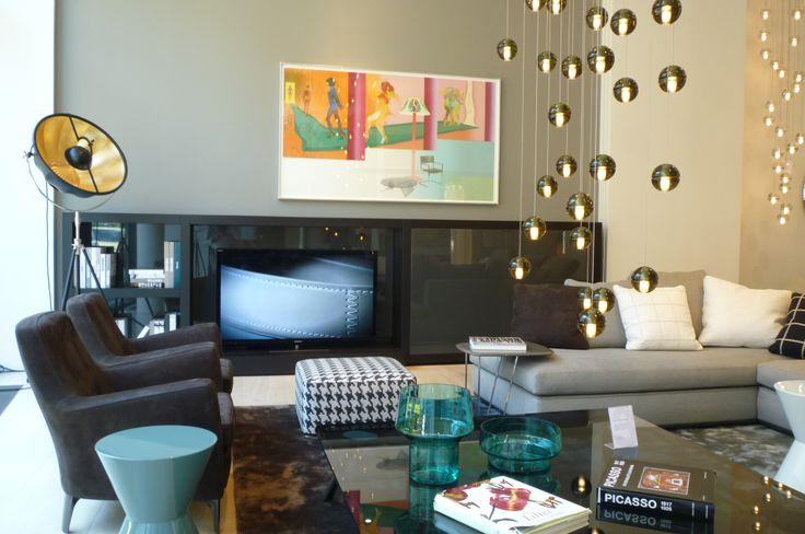 Sofa Powell Sessel Denny Lounge Beistelltisch Cesar, Hocker Davis