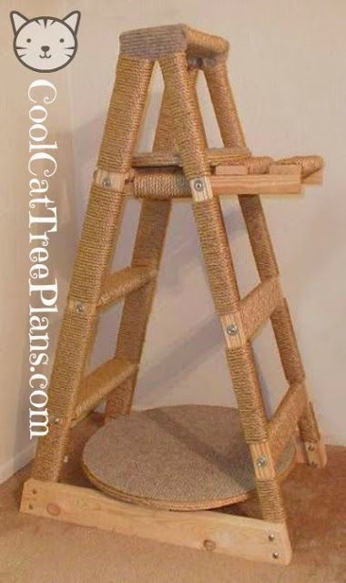 ♥ Cool Cat Stuff ♥  Free Cat Tree Plans, Ideas & Cat Stuff To Inspire & Help You Build Your Own Cat Tree.
