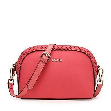 Women's Hollow schelpen tas leer mode Crossbody Bag – EUR € 56.92