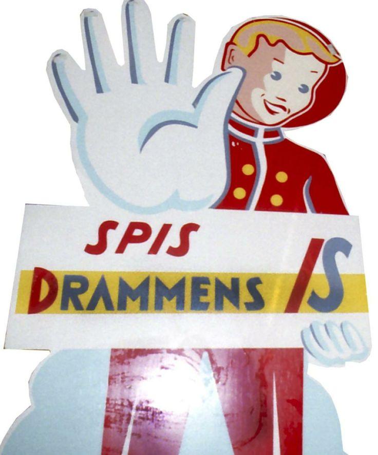 Gutten:                      Iskrem-gutten, kjent logo for Drammens Is. ...