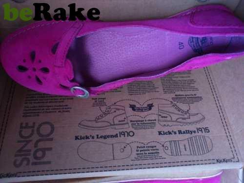 Vendo Zapatos kickers nuevos piel fucsia talla 40...