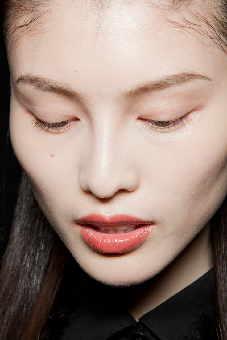 Sui He, backstage at Narciso Rodriguez Fall 2012 Ready to Wear
