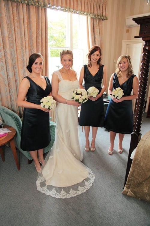 Bridal party image taken at the Spa Hotel.