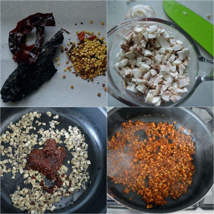 Chorizo de champiñones (vegano y sin soya) | http://www.pizcadesabor.com/2014/02/17/chorizo-de-champinones-vegano-y-sin-soya/