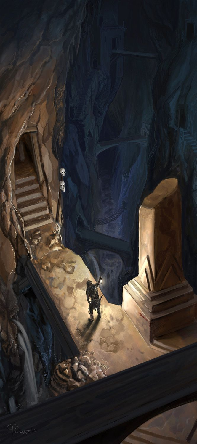 The dwarf mines (B2: Quest for a Forgotten Legend) ~Wendy Hamlet (By Claudio Pozas.)