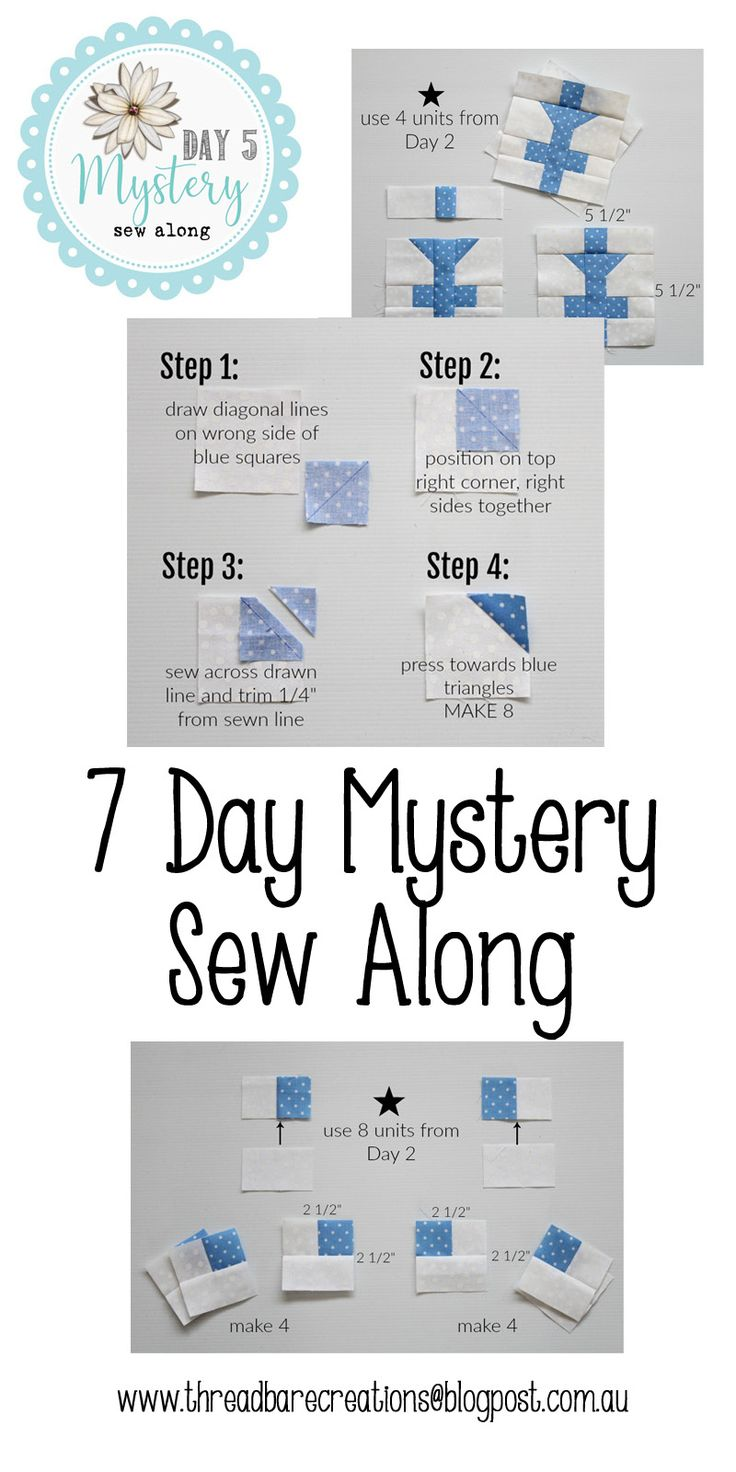 Threadbare Creations- 7 Day Mystery Sew Along Day 5