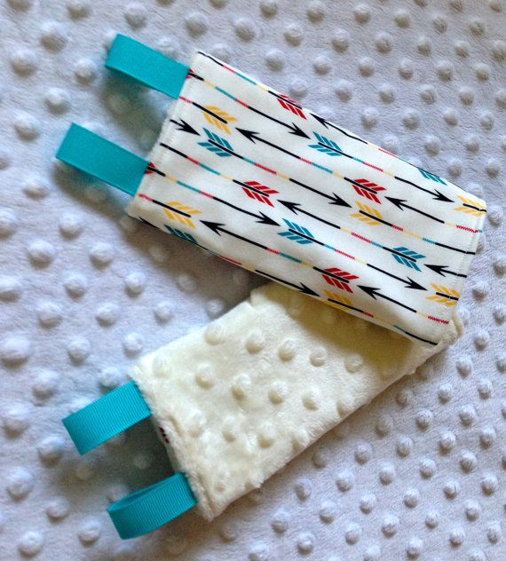 Drool/Suck/Teething Pads w/ Minky Backing for Baby by BabyGreeters