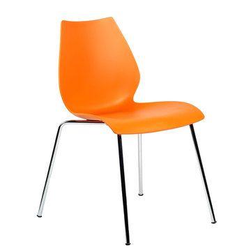 I liked this design on #Fab. Maui Armless Chair Orange