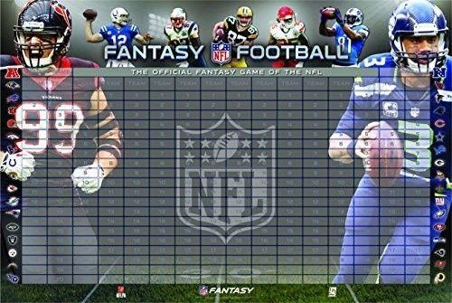 NFL Fantasy Football 2015 Team Draft Official Wall Board Kit Large Display Label #UPI #NFL #fantasy #football #2015