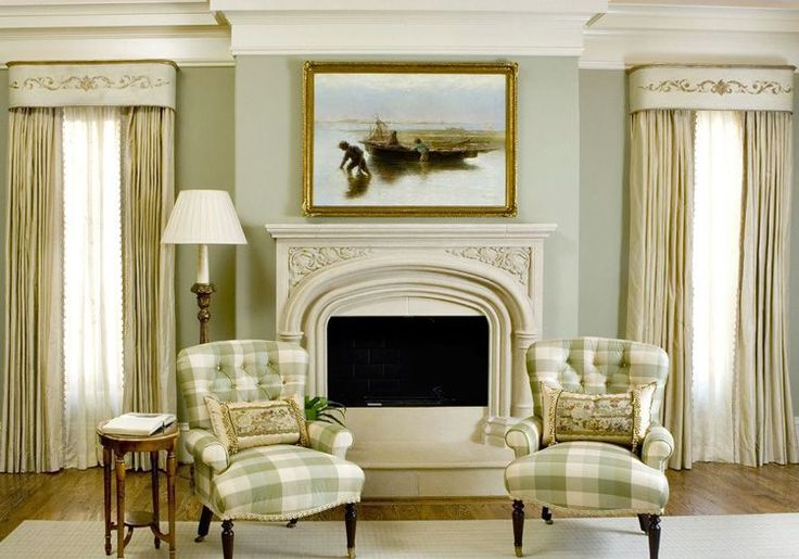 This living room is proof that traditional can be formal while still maintaining a soft, welcoming touch. The chairs are a popular style and should be easy to find second-hand.