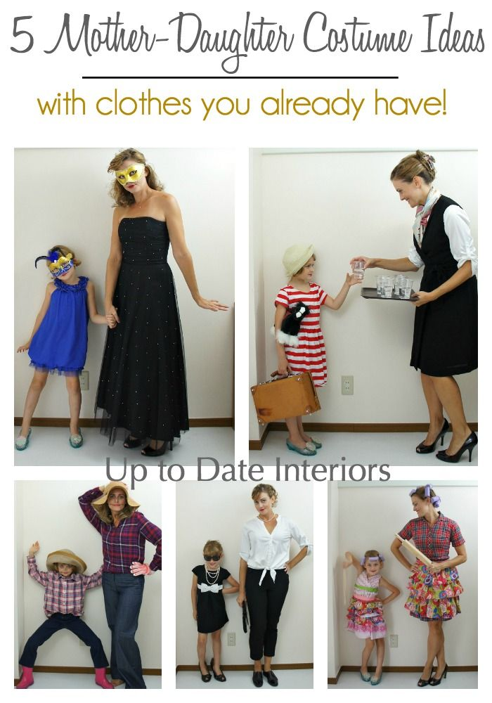 Easy costume ideas for Mother- Daughter or child and adult with clothes already in your closet!!