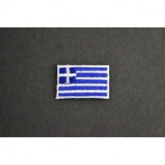 Application à thermocoller drapeau Grèce Ecusson en vente http://www.labellelutetia.com . LA BELLE LUTETIA - mercerie discount en ligne, Paris