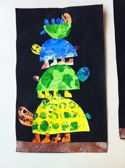 Nos familles tortues (d'apres une idée vue sur Pinterest)