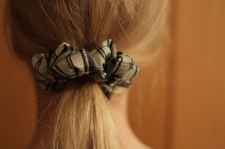 Rustic Mint Checkered Scrunchie, low ponytail ---> https://www.etsy.com/uk/listing/227323335/rustic-mint-checkered-scrunchie?ref=listing-shop-header-1