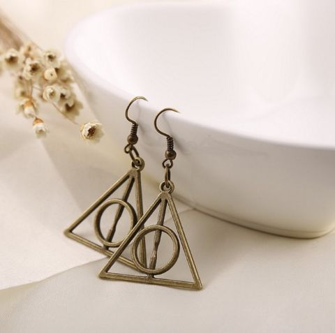 HP - Deathly Hallows Earrings - Harry Potter  (Bronze)