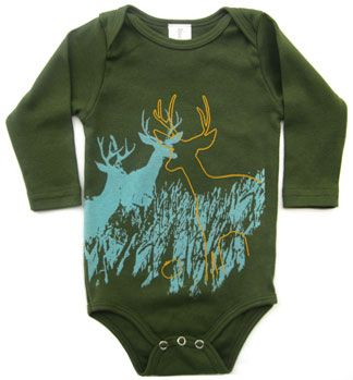 Deer Organic Onesie for baby, made in USA!  $28