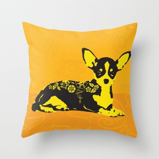 Chillin' Chihuahua throw pillow by Golden Ace on www.society6.com  https://society6.com/product/chillin-chihuahua_pillow#25=193&18=126 https://society6.com/product/chillin-chihuahua_pillow?curator=goldenaceworks