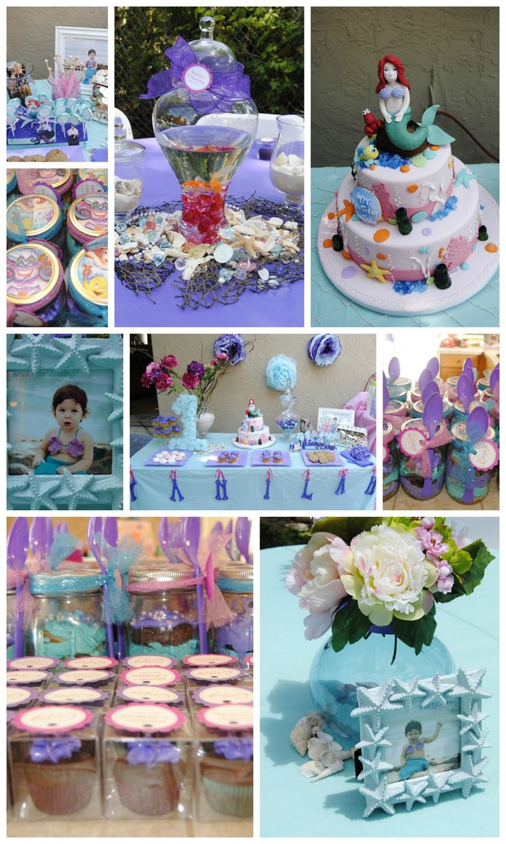 33 best images about little mermaid party ideas on for Ariel birthday decoration ideas