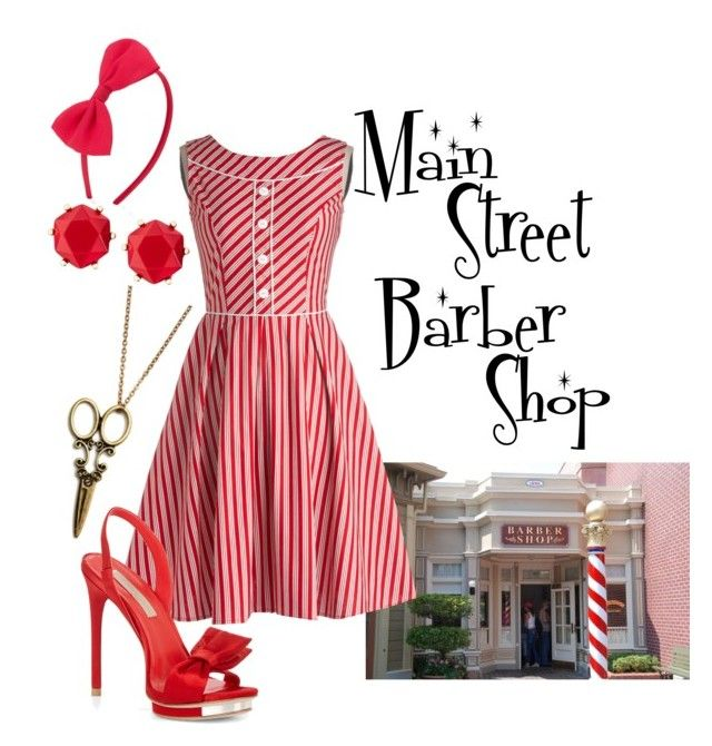 """""""Main Street Barber Shop"""" by alsni ❤ liked on Polyvore featuring POL, BCBGMAXAZRIA, Forever 21 and Brooks Brothers"""