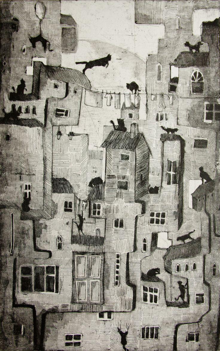 The Cats, Jagoda Cerkiewnik on ArtStation at https://www.artstation.com/artwork/5YD2O