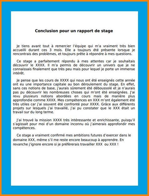12+ conclusion rapport de stage   gouvernoratmaniema en 2020   Modèle de rapport, Rédiger un ...