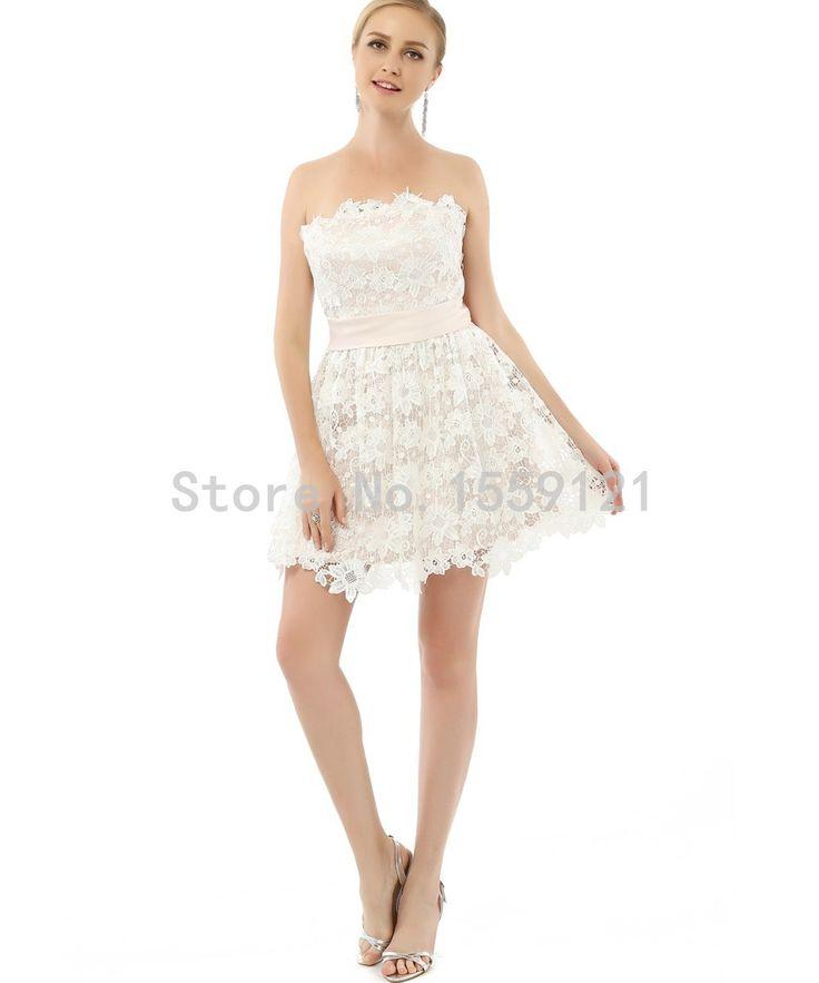2017 Adolescentes Festa Real Backless Lace Mini-Length Short Cocktail Dresses Party Dresses Girl's Graduation Dress