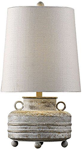 Table Lamp in Distressed Olive Gray Finish Uttermost