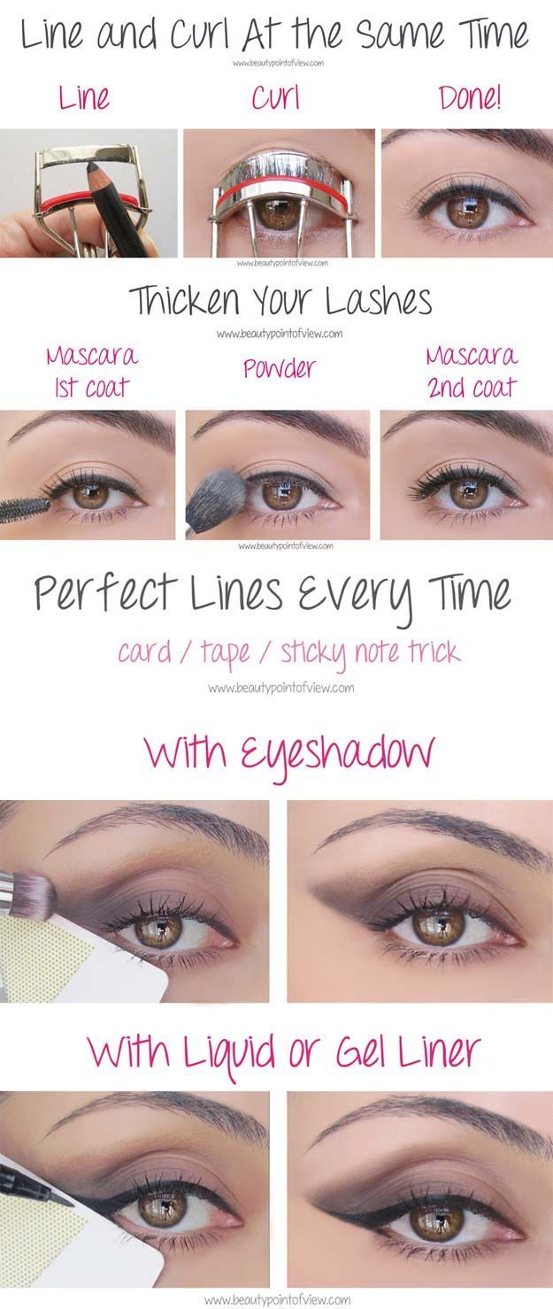Beauty Hacks for Teens - Eye Makeup Tricks – Must Know - DIY Makeup Tips and Hacks for Skin, Hairstyles, Acne, Bras and Everything in Between
