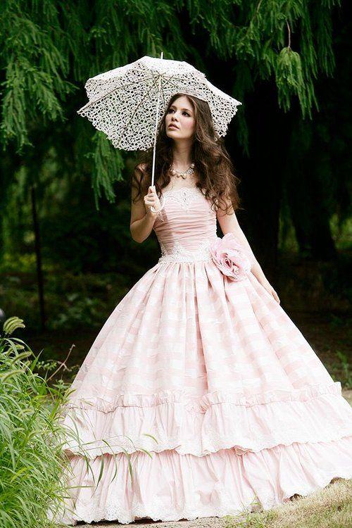 rain, rainy day, umbrella, parasol, fairytale, princess, dress
