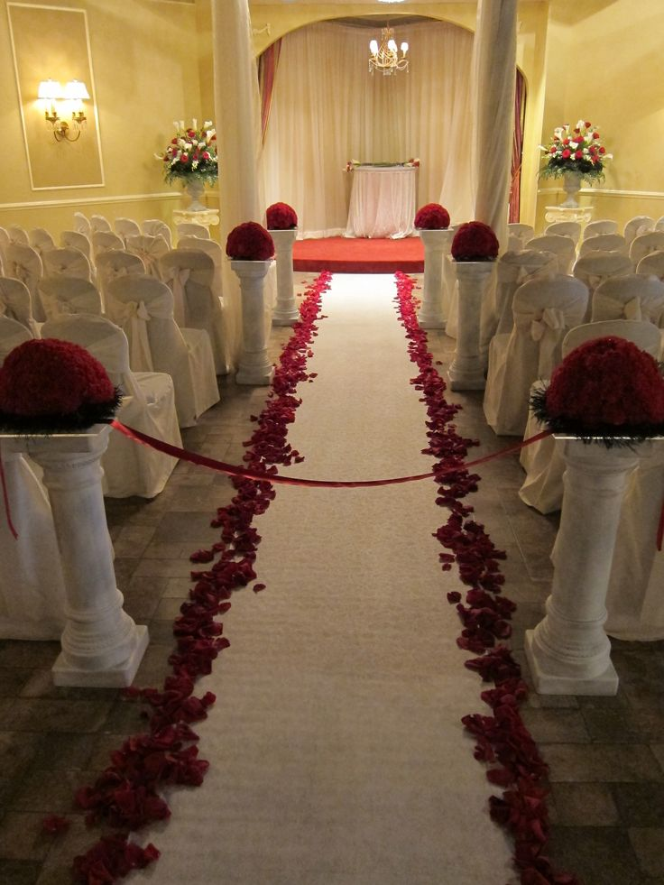 black and red wedding ceremony