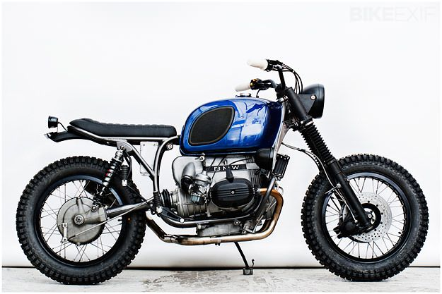Out Of Africa: this Wrenchmonkees BMW R100RT is destined for Mauritania.