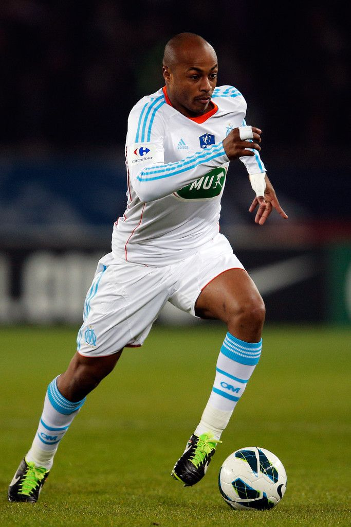 Andre Ayew - Olympique de Marseille. Now with Swansea City. Striker, Ghana.