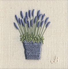 Jo Butcher, Embroidery Artist - Lavender Pot (small)