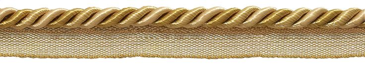 "10 Yard Value Pack Medium Two Tone Gold Baroque Collection 5/16"" Cord with Lip Style# 0516BL Color: GOLD MEDLEY - 8633 (30 Ft / 9 Meters)"
