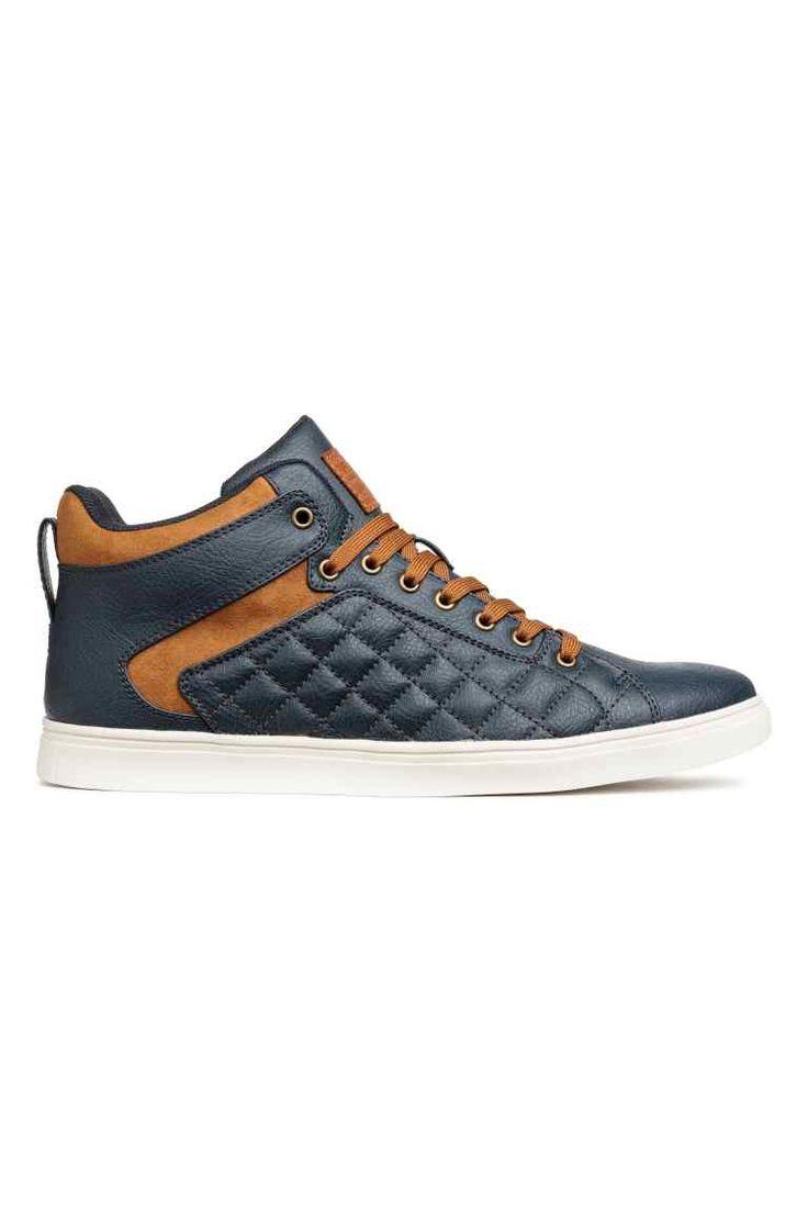 Zapatillas deportivas altas - Azul oscuro - HOMBRE | H&M ES 1