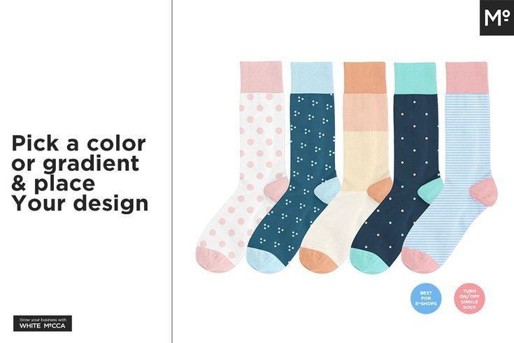 sock design templates mockup 11 - #Design #mockup #Sock