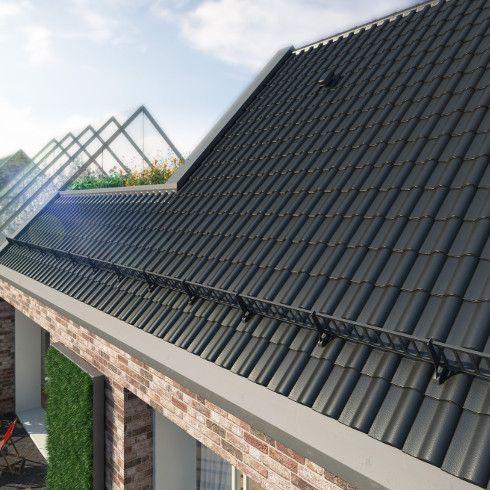 Gerade dunkle Farben liegen bei der Dacheindeckung im Trend. Den Dachziegel Alegra 15 (Werk Bogen) von Wienerberger gibt es deshalb auch in anthrazit, edeltiefschwarz und dunkelgrau