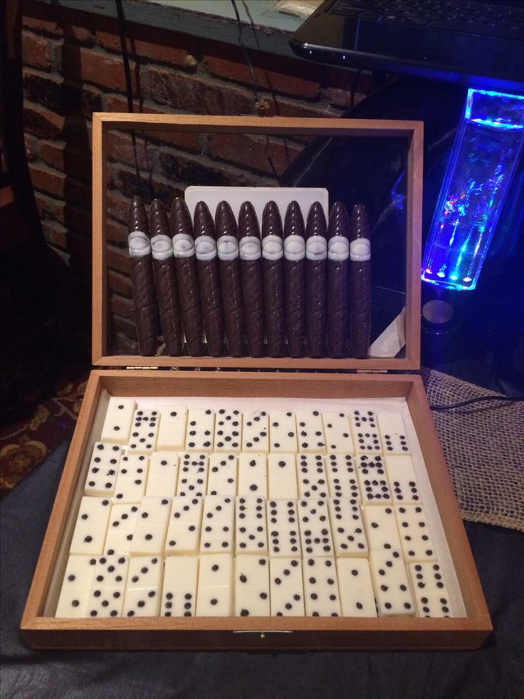 Dark Chocolate Cigars and White Chocolate Dominos for that Cuban ambiance.