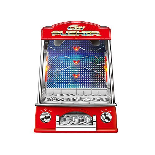Toydaloo Mini Coin Pusher Home Arcade Game with Lights and Sounds Includes 150 Play Coins *** Continue to the product at the image link. Note:It is Affiliate Link to Amazon.