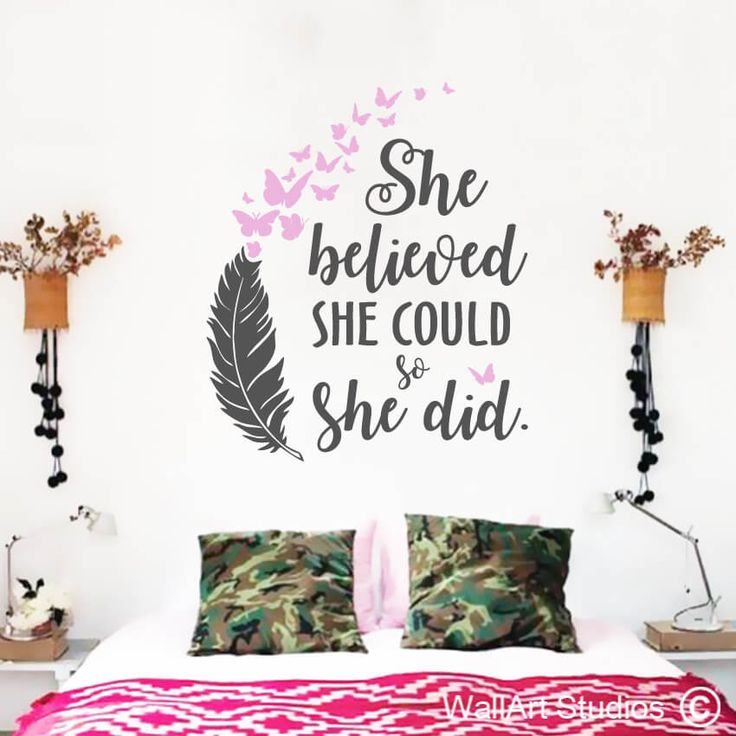 She Believed She Could so She did! LOVE LOVE LOVE this one! Get yours on our website www.wallartstudios.com choose your own colors and sizes. We ship worldwide :)
