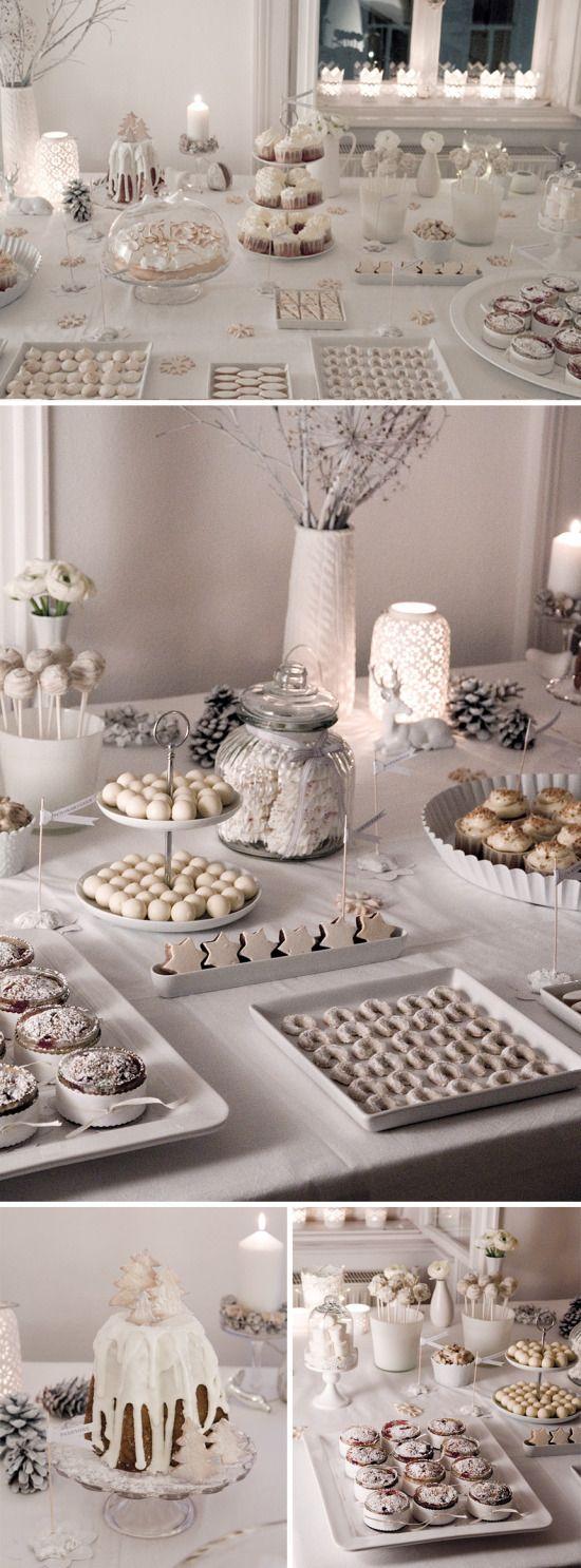 Schneeweißes Farbthema für die #CandyBar... #sweettable