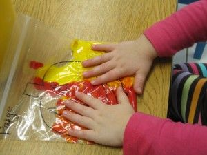 color mixing activity #colors #art #preschool