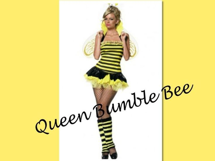 Sexy Bumble Bee Adult Queen Costume Tutu Style Dress Petticoat Yellow & Black