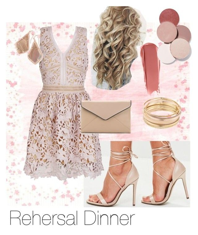 """""""rehearsal dinner"""" by raenalynne on Polyvore featuring Missguided, La Diva, Mudd, Kendra Scott and LunatiCK Cosmetic Labs"""