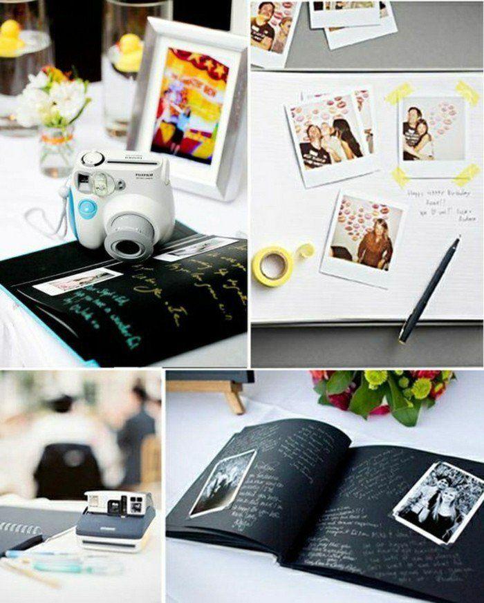 album avec photos de mariage, idée animation mariage originale