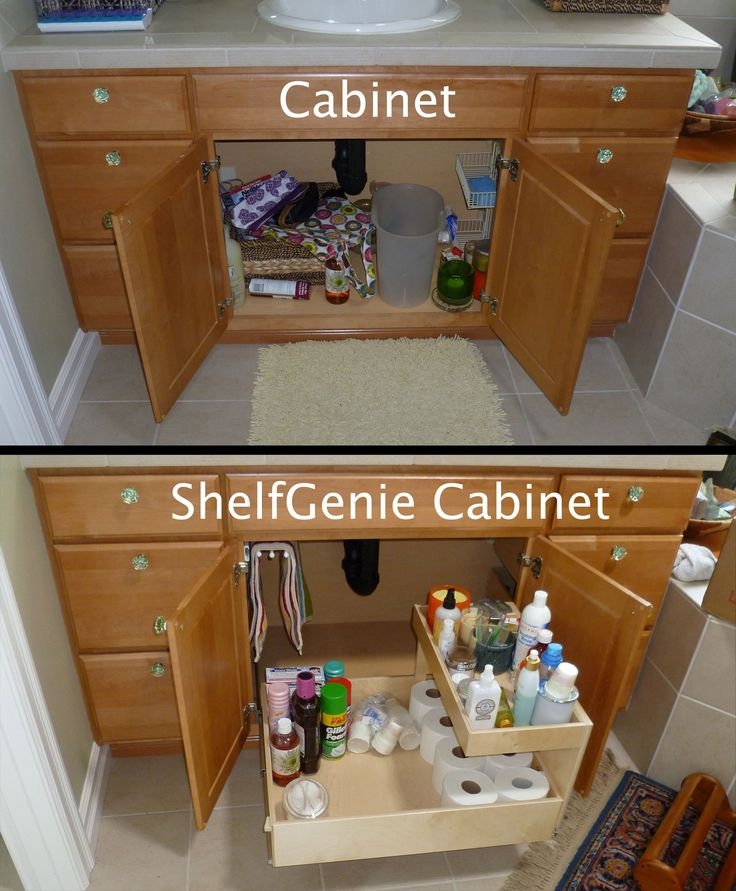 the recipe for turning this cabinet into a shelfgenie cabinet add one pull out towel